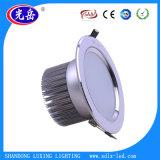 Do diodo emissor de luz luz para baixo, carcaça leve do diodo emissor de luz Downlight, diodo emissor de luz Downlight de 7W 9W 12W 18W 24W