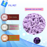 Buena calidad de la Lavanda Tofu arena de gato (YYLD04)