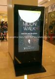 '' pantalla táctil interactiva 55 que hace publicidad del jugador