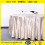 """120 """"円形の結婚式ポリエステルサテンのテーブルクロスのテーブル掛け表のランナー"""