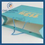 파란 인쇄 매트 박판 선물 종이 봉지 (DM-GPBB-138)