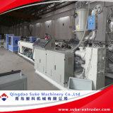 Extrusão da tubulação do HDPE que faz a linha da extrusora da máquina