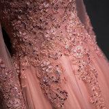 Lovemay Spitze-Tulle-langes bördelndes Abend-Partei-Kleid