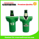 Neoprene Beer Can Bottle Cooler Sac en T-shirt Forme