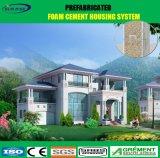 빨리 건축하는 강철 구조물은 태양 전지판을%s 가진 Prefabricated 집을 설치한다