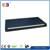 24 portas Sc Adaptador Simplex Patch Panel de fibra de montagem em rack