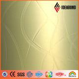 바 패턴 Ideabond 새로운 양각 알루미늄 플라스틱 복합 패널 (Glod 바 013)