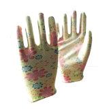 13 Индикатор PU покрытием перчатки/цветочный сад печати PU перчатки