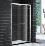 Дверь ливня раздвижных дверей двойника ведущего бруса наружного слоя нержавеющей стали алюминиевая