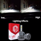 LED-Scheinwerfer-Konvertierungs-Installationssatz mit 4000lm H4 LED Birnen-und des Sekundärmarkt-LED Scheinwerfern