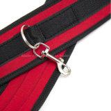 Colore rosso sotto il kit di schiavitù del sistema di fermo della base con le cinghie ed i polsini, giocattoli del gioco del sesso del feticcio