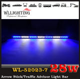 White rosso Arrow Warning Stick LED Strobe Lights con Traffic Advisor