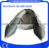 12FT Aluminiumrumpf-Rippen-Boots-Kurbelgehäuse-Belüftung/Schwertwal Hypalon Gefäß