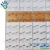Металлические +деревянные панели крепится к стене обувь магазин настенной панели для розничной торговли на дисплее полки зерноочистки