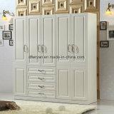 غرفة نوم أثاث لازم ميلامين لوح أربعة أبواب خزانة ثوب خزانة