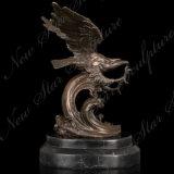 Kupferne Adler-Metalskulptur für Hauptdekoration