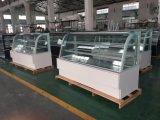 Visor de bolo de vidro reta Mostruário de arcas congeladoras