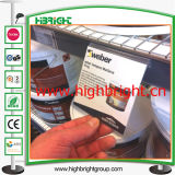 Etiqueta de preço de PVC barato transparente para ganchos
