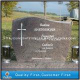 Monumenti rossi della pietra tombale della pietra del granito dell'Himalaya per il servizio della Polonia