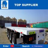 Titaan 4 Aanhangwagen van het Bed van de Aanhangwagen van Assen 40FT Flat-Bed Hoge
