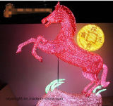 Lumière de Noël 3D animal Motif LED Light Horse