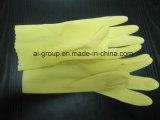Желтый перчатки для домашних хозяйств в саду и кухня (природных латекс)