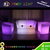 Fashion Outdoor Illuminated LED Furniture Double Seater