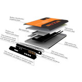 Батарея лития замены большой емкости 3000mAh запасная для LG