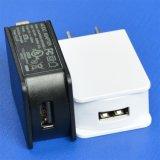 Белый переходника заряжателя USB 5V 1A с микро- кабелем USB