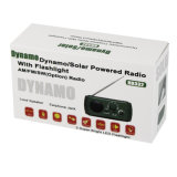 W/Flashlight solaire/par dynamo actionné de radio portative multifonctionnelle du secours Am/FM de Br-332 DEL