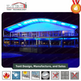 20X50m Arch Clear Span Tent with White ABS Wall for Luxury Party