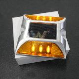 Gele LEIDEN Licht Aluminium 3m de Weerspiegelende Nagel van de Weg van het Oog van de Kat
