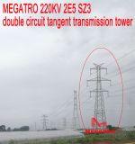 Doppia torretta della trasmissione di tangente del circuito di Megatro 220kv 2e5 Sz3