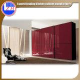 Europäischer moderner Art-Schlafzimmer-Wandschrank-hölzerne Garderoben-Schränke (ZHUV)