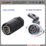 세륨 Approved Circular 20AMP Waterproof 3 Pin LED Cabinet Connector