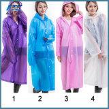 透過レインコートの女性の人携帯用屋外旅行Rainwear