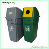 El reciclaje de cubierta de plástico PP Casa cubo de basura para Can