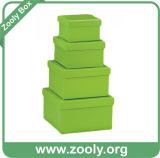 자연적인 브라운 Kraft 마분지 서류상 라운드 중첩 모자 상자