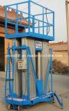 Elevación móvil de aluminio de la plataforma de funcionamiento del mástil del trabajo aéreo