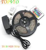 Non impermeabilizzare il kit dell'indicatore luminoso di striscia di 5m 12V SMD3528 IL RGB LED
