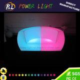 Presidenza di plastica illuminata del sofà della barra della mobilia del LED