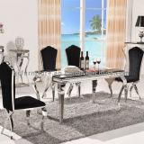 Heißer verkaufenEdelstahl-Marmorspeisetisch für Wohnzimmer-Möbel