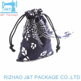 Coulisse de la mousseline de coton sac personnalisé pour les dons, traite, de bijoux