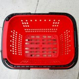 Panier à provisions en plastique de roulement de nouveau supermarché entier de conception avec la roue