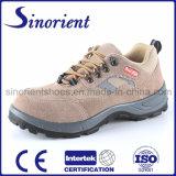 Zapatos de seguridad de cuero vendedores calientes de la punta de los hombres de acero del casquillo RS8137