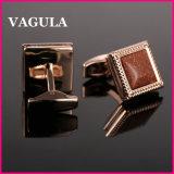 Botão de punho franceses L52503 do Onyx da qualidade de VAGULA