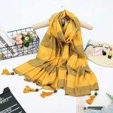 Оптовые новые типы шарфа шотландки зимы женщин с краем