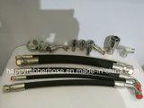 Super flexibler weicher Zweidrahtflechten-Hydrauliköl-Gummischlauch R16