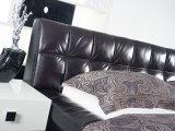 Король Размер Кожа Мягк Кровать мебели спальни самомоднейший с рамкой