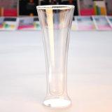 tazza di vetro doppia della spremuta della tazza di Champagne di vetro di vino 12oz